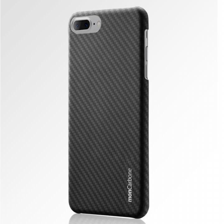 【iPhone8 Plus/7 Plusケース】monCarbone HOVERKOAT ケブラーケース ステルスブラック マットタイプ iPhone 8 Plus/7 Plus_0