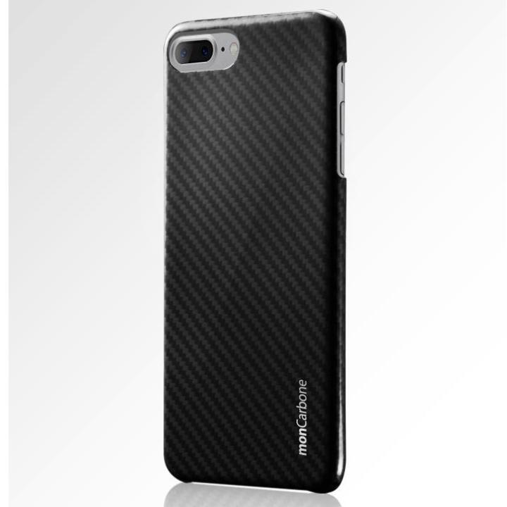 【iPhone8 Plus/7 Plusケース】monCarbone HOVERKOAT ケブラーケース ミッドナイトブラック 光沢タイプ iPhone 8 Plus/7 Plus_0