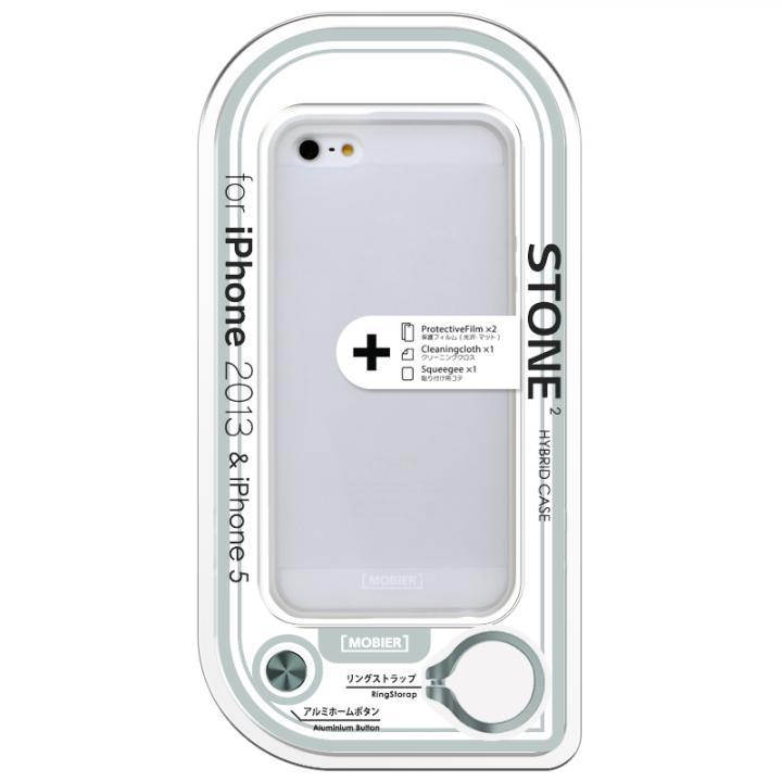 【iPhone SE/5s/5ケース】iPhone SE/5s/5 STONE 2 ハイブリッドケース ホワイト_0