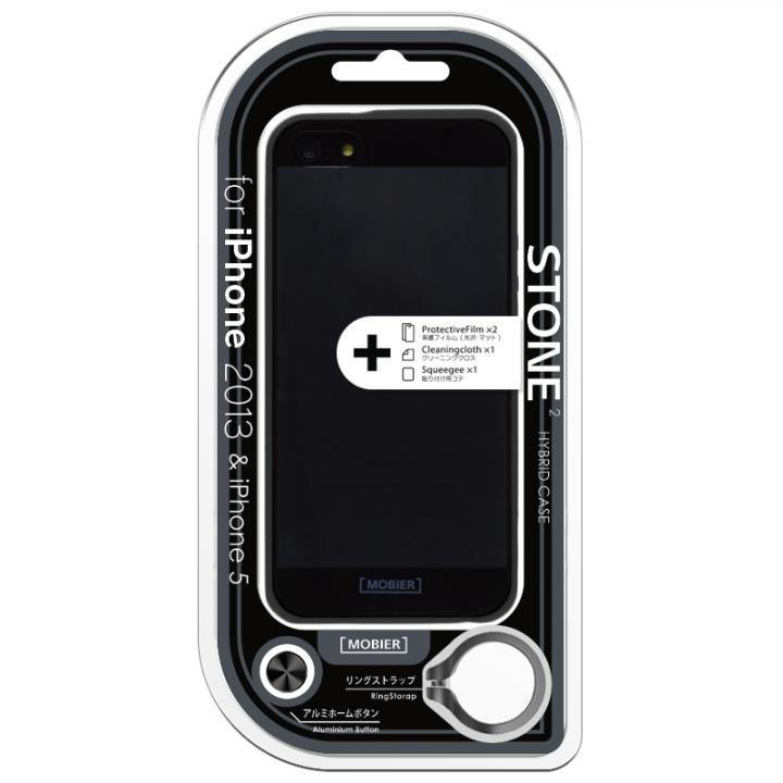 iPhone SE/5s/5 ケース iPhone SE/5s/5 STONE 2 ハイブリッドケース ブラック_0