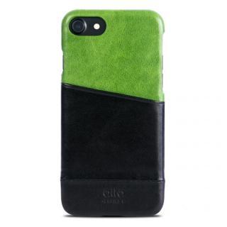 イタリア製本革ケース カードホルダー搭載 alto Metro グリーン/ブラック iPhone 7