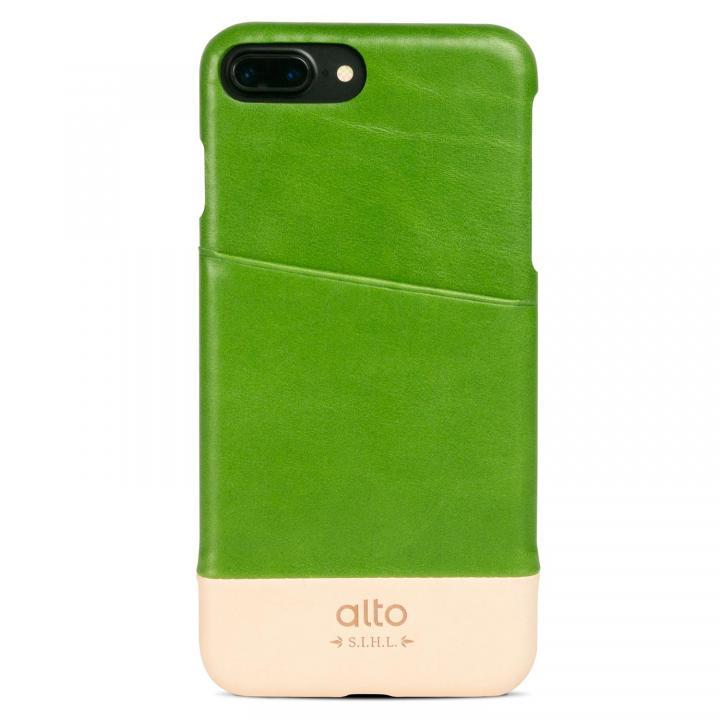 iPhone7 Plus ケース イタリア製本革ケース カードホルダー搭載 alto Metro グリーン/オリジナル iPhone 7 Plus_0