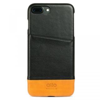 イタリア製本革ケース カードホルダー搭載 alto Metro ブラック/ライトブラウン iPhone 7 Plus
