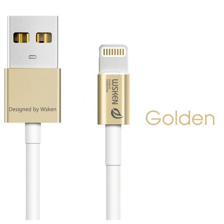 [1m]高耐久 小型コネクタLightningケーブル iCable ゴールド_0