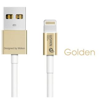 [1m]高耐久 小型コネクタLightningケーブル iCable ゴールド