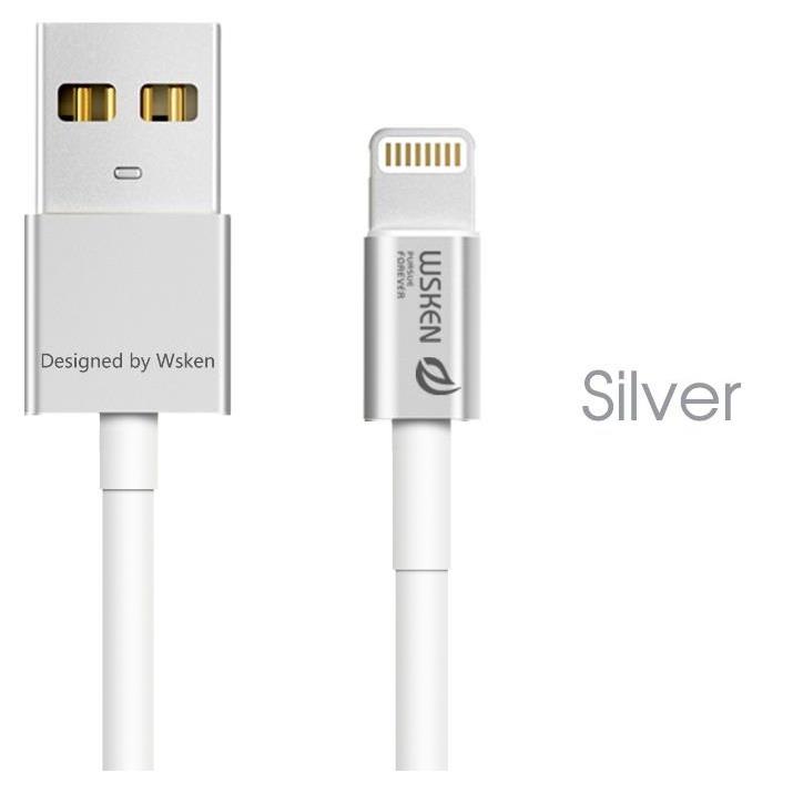[1m]高耐久 小型コネクタLightningケーブル iCable シルバー_0