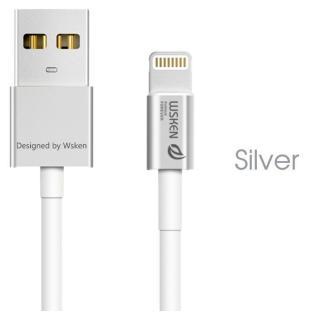 [1m]高耐久 小型コネクタLightningケーブル iCable シルバー