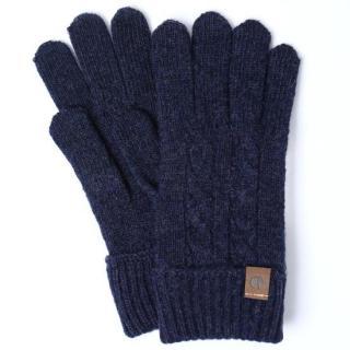 スマホ対応手袋 iTouch Gloves CABLE ネイビー【12月下旬】
