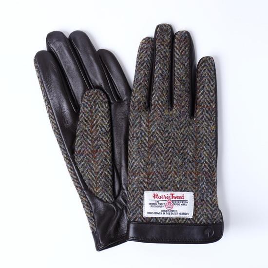スマホ対応手袋 iTouch Gloves  ハリスツイード S/ブラウンヘリンボーン