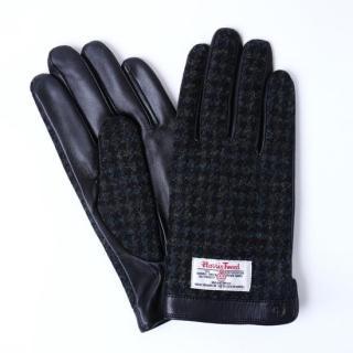 スマホ対応手袋 iTouch Gloves  ハリスツイード L/ブラック千鳥