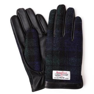 スマホ対応手袋 iTouch Gloves  ハリスツイード L/ブラック×ネイビーチェック