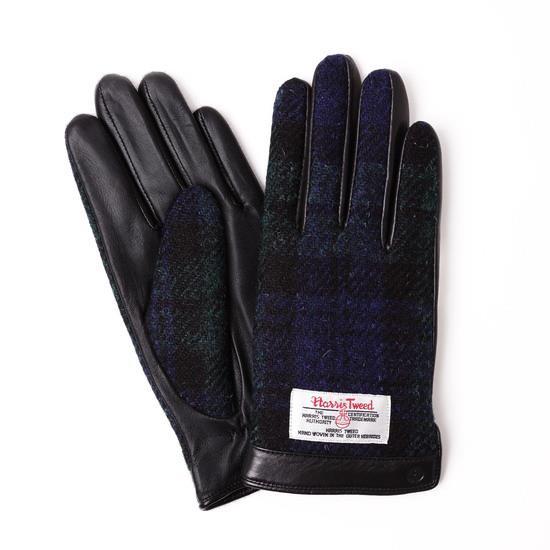 スマホ対応手袋 iTouch Gloves  ハリスツイード S/ブラック×ネイビーチェック_0