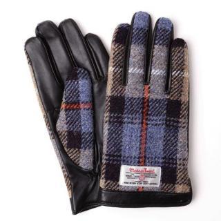 スマホ対応手袋 iTouch Gloves  ハリスツイード L/ブラック×ブルーチェック