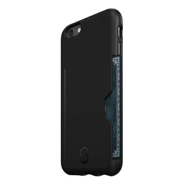 ICカード対応耐衝撃ケース ITG Level PRO ブラック iPhone 6s/6