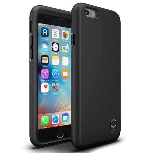 耐衝撃ケース + 強化ガラスセット ITG Level 1 パック ブラック iPhone 6s/6