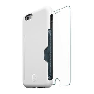 ICカード対応耐衝撃ケース + 強化ガラス ITG Level PRO ホワイト iPhone 6s/6