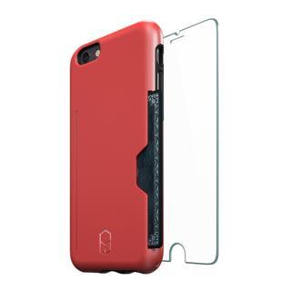 ICカード対応耐衝撃ケース + 強化ガラス ITG Level PRO レッド iPhone 6s Plus/6 Plus