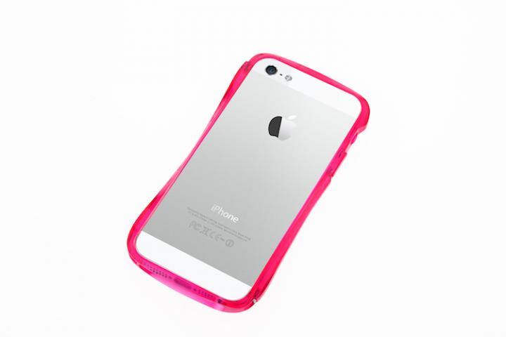 iPhone SE/5s/5 ケース CLEAVE Bumper  iPhone5 Crystal Edition Passion Pink_0