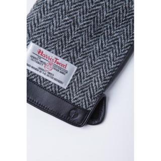 スマホ対応手袋 iTouch Gloves 手のひら側革製ブラック(ヘリンボーン)Sサイズ_3