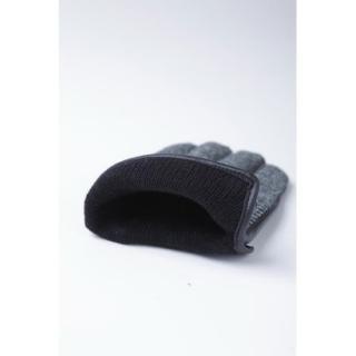 スマホ対応手袋 iTouch Gloves 手のひら側革製ブラック(ヘリンボーン)Sサイズ_4