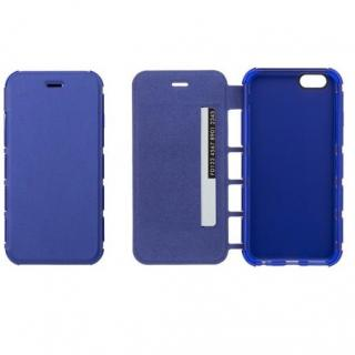 iPhone6s/6 ケース 耐衝撃手帳型ケース EQUAL Air Shock ブルー iPhone 6s/6