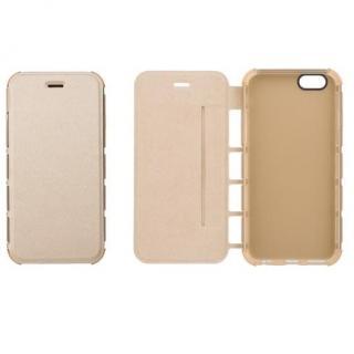 iPhone6s/6 ケース 耐衝撃手帳型ケース EQUAL Air Shock ゴールド iPhone 6s/6