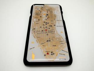 ニューヨーク回路地図 白 iPhone 6ケース
