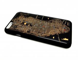 【iPhone6ケース】ニューヨーク回路地図 黒 iPhone 6ケース_1