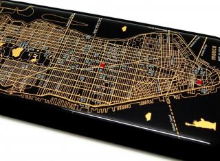 【iPhone6ケース】ニューヨーク回路地図 黒 iPhone 6ケース_2