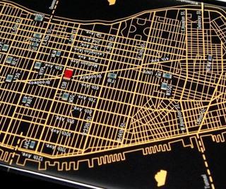 【iPhone6ケース】ニューヨーク回路地図 黒 iPhone 6ケース_3