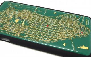 【iPhone6ケース】ニューヨーク回路地図 緑 iPhone 6ケース_2