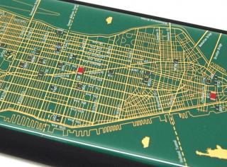 【iPhone6ケース】ニューヨーク回路地図 緑 iPhone 6ケース_3