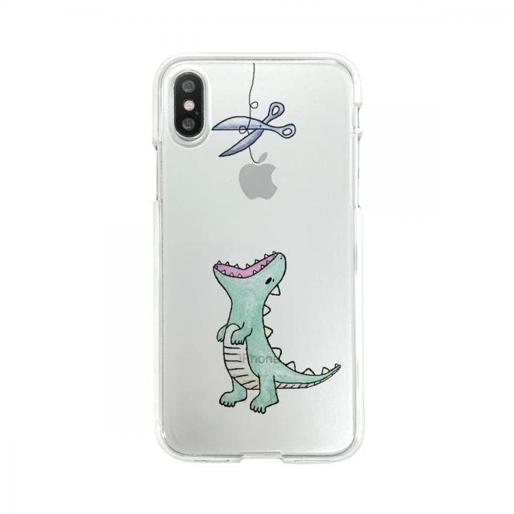 Dparks ソフトクリアケース ファンタジーはらぺこザウルスグリーン iPhone X
