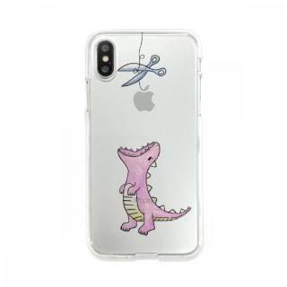 Dparks ソフトクリアケース ファンタジーはらぺこザウルスピンク iPhone X