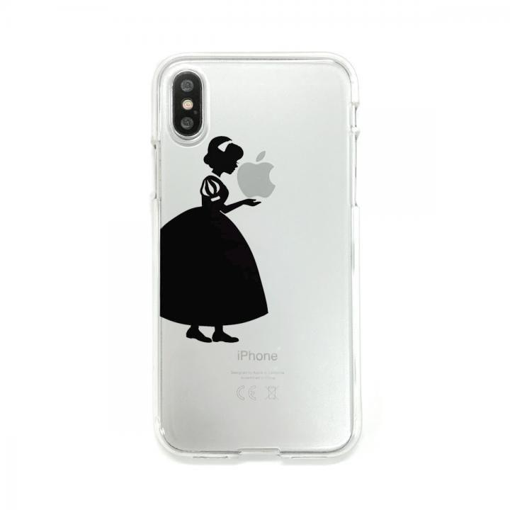 Dparks ソフトクリアケース シルエット白雪姫 iPhone X