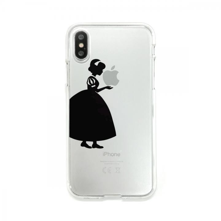 【iPhone XS/Xケース】Dparks ソフトクリアケース シルエット白雪姫 iPhone XS/X_0