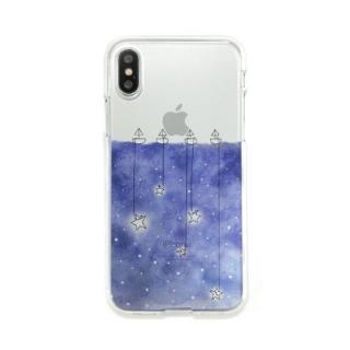 Dparks ソフトクリアケース 星取り iPhone X