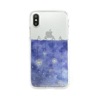 Dparks ソフトクリアケース 星取り iPhone XS/X