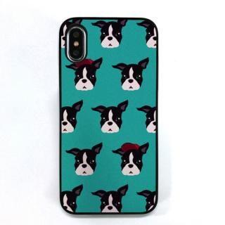 Dparks ブラックケース FashionableDogFrenchBulldog iPhone X【11月下旬】
