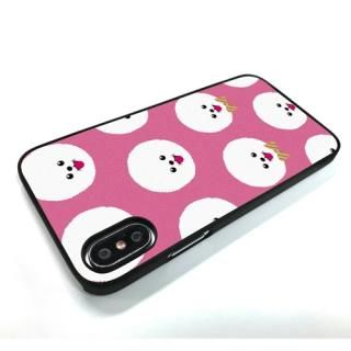 【iPhone XS/Xケース】Dparks ブラックケース FashionableDogBichonFrise iPhone XS/X_1