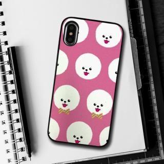 【iPhone XS/Xケース】Dparks ブラックケース FashionableDogBichonFrise iPhone XS/X_4
