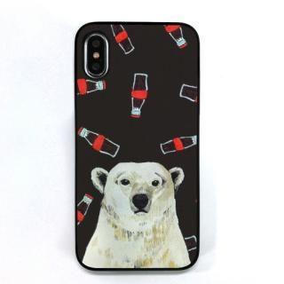 Dparks ブラックケース 白熊とコーラ iPhone XS/X