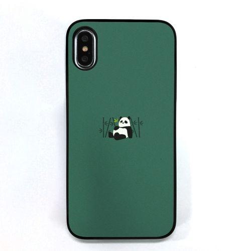 【iPhone XS/Xケース】Dparks ブラックケース ミニ動物パンダ iPhone XS/X_0