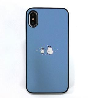 Dparks ブラックケース ミニ動物ペンギン iPhone XS/X