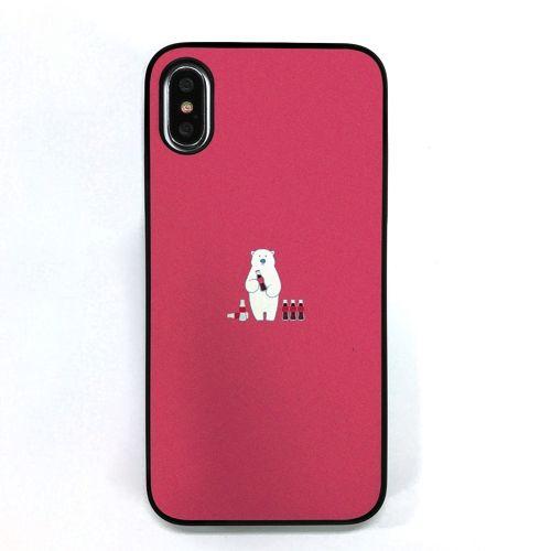 【iPhone XS/Xケース】Dparks ブラックケース ミニ動物シロクマ iPhone XS/X_0