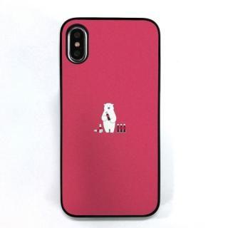 Dparks ブラックケース ミニ動物シロクマ iPhone XS/X