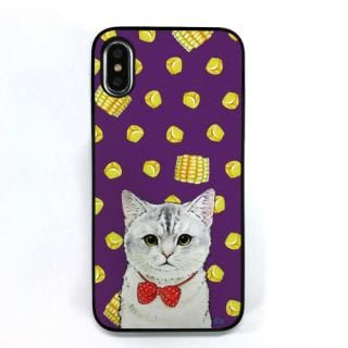 Dparks ブラックケース ネコととうもろこし iPhone X【11月下旬】