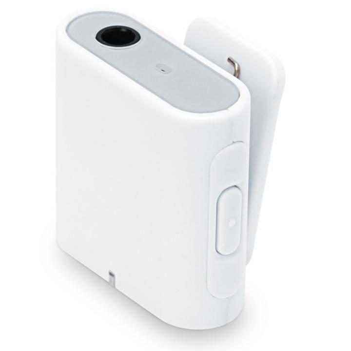 Bluetooth 4.2 搭載 ワイヤレス オーディオレシーバー 3ボタンタイプ ホワイト_0
