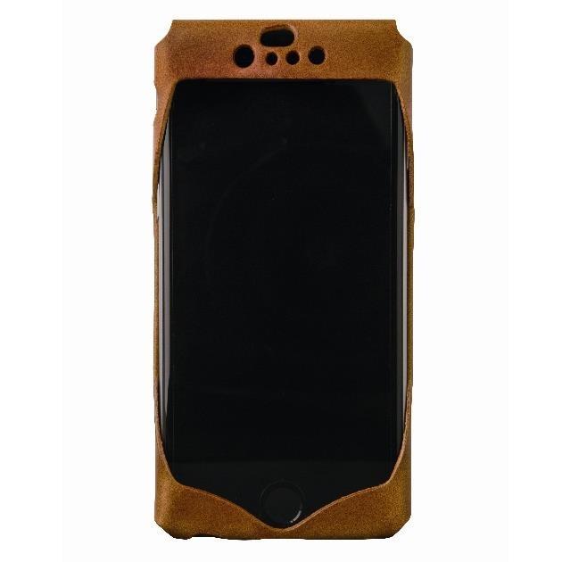 【iPhone6ケース】1枚革から成型したレザーケース Wear キャメル iPhone 6s/6ケース_0