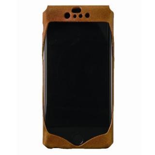 1枚革から成型したレザーケース Wear キャメル iPhone 6s/6ケース